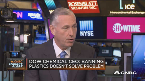 Dow Chemical CEO: Banning plastics doesn't solve problem