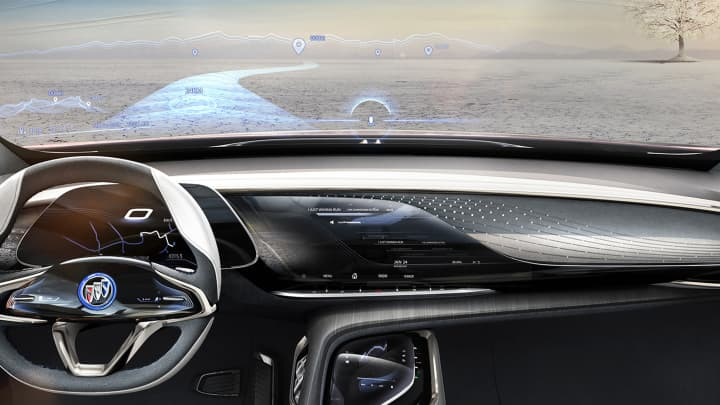 Buick is popular in China, and the Enspire crossover was unveiled at this year's Beijing Auto Show with features including an augmented reality display for the windshield that can show road information and navigation routes.