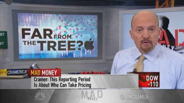 Let Apple's stock 'settle down' before you start buying, Cramer says