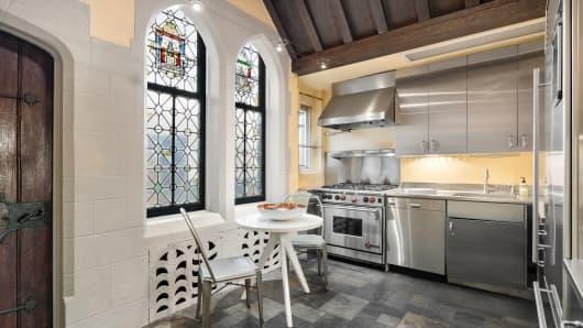 91 Central Park West penthouse interior, kitchen
