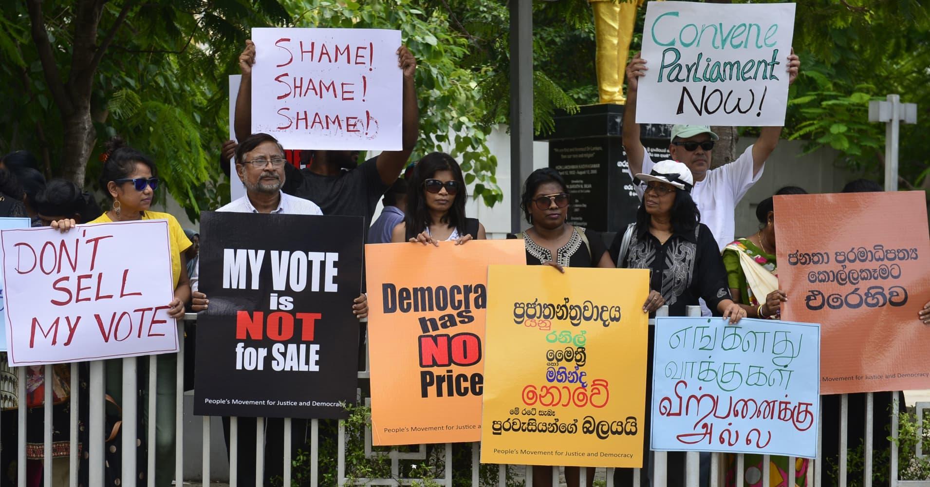 Political turmoil could test Sri Lanka's ties with international community