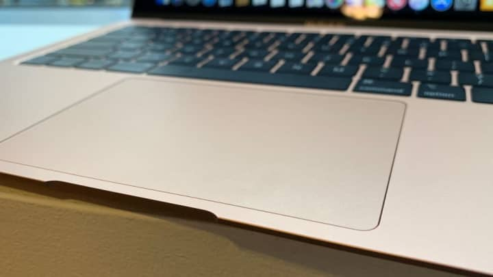 The large trackpad on the new MacBook Air