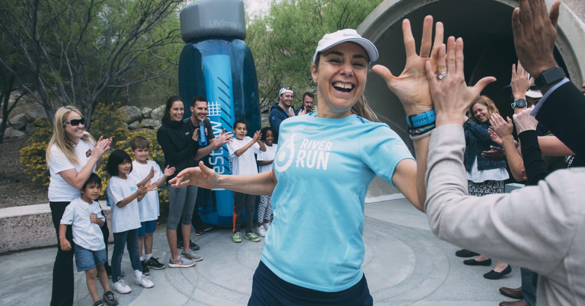 Mina Guli, Thirst founder and CEO, plans to run 100 marathons in 100 days