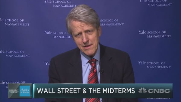 Professor Robert Shiller says the markets could be vulnerable after U.S. midterms