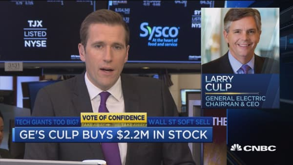 GE's Larry Culp buys $2.2 million in stock