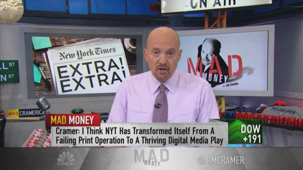 Cramer: Despite his criticisms, President Trump is good for The New York Times