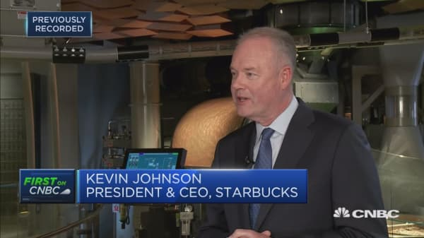 Starbucks CEO: Delivery in China is 'leading' in the world