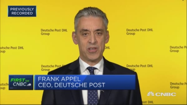 No major impact from US-China trade war, says Deutsche Post CEO