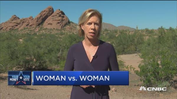 A look at Arizona's women vs. women Senate race