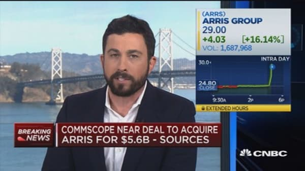 CommScope near deal to acquire Arris