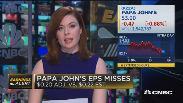 Papa John's misses earnings, revenues expectations