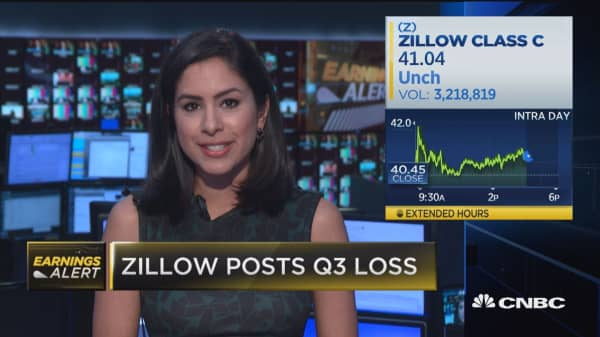 Zillow posts loss for Q3