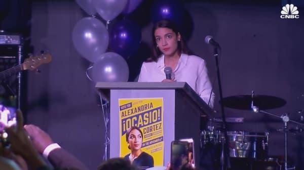 Watch Alexandria Ocasio-Cortez speak after winning Congressional election