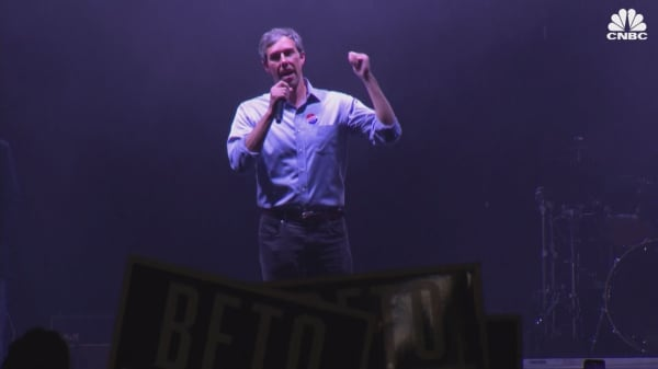 Democrat Beto O'Rourke speaks after losing Senate race to Ted Cruz