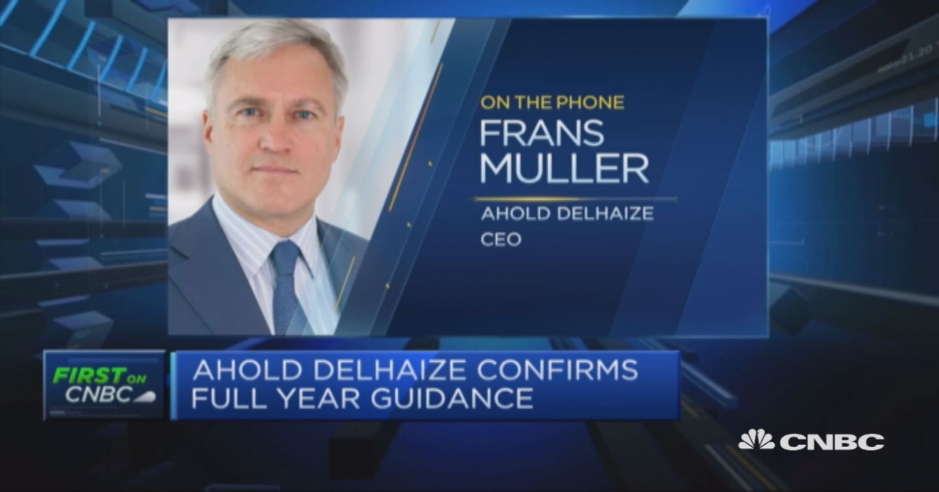 Ahold Delhaize CEO: A number of things working well for us