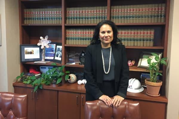 Judge Veronica Escobar in her office Thursday, November 3, 2016.