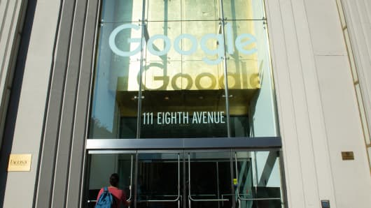 Google's New York office located on 8th avenue.