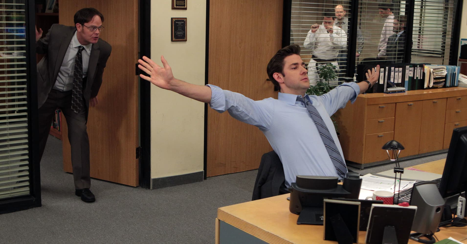 "John Krasinski as Jim Halpert in NBC's ""The Office"""