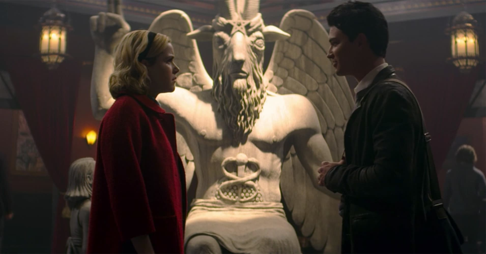 """The Satanic Temple is suing Netflix over the use of a Satanic statue used in the production of """"The Chilling Adventures of Sabrina""""."""