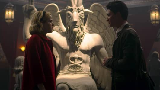"The Satanic Temple is suing Netflix over the use of a Satanic statue used in the production of ""The Chilling Adventures of Sabrina""."