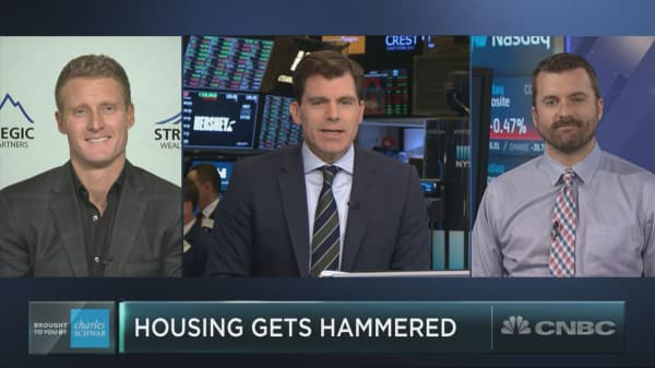 Housing stocks are getting hammered, but one strategist sees a buying opportunity