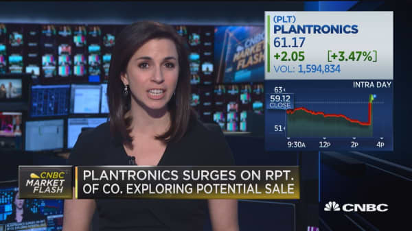 Platronics surges on report of company exploring its own sale