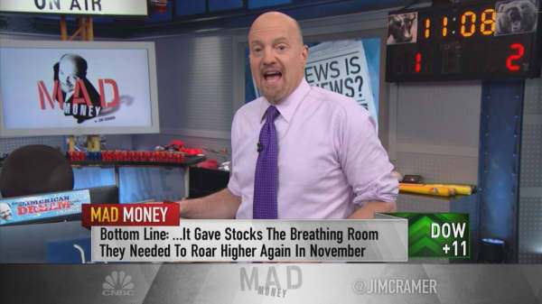 Cramer on why October's meltdown may have been a good thing