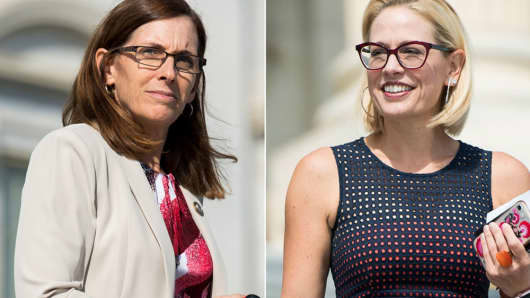 Rep. Martha McSally, R-Ariz., and Rep. Kyrsten Sinema, D-Ariz.