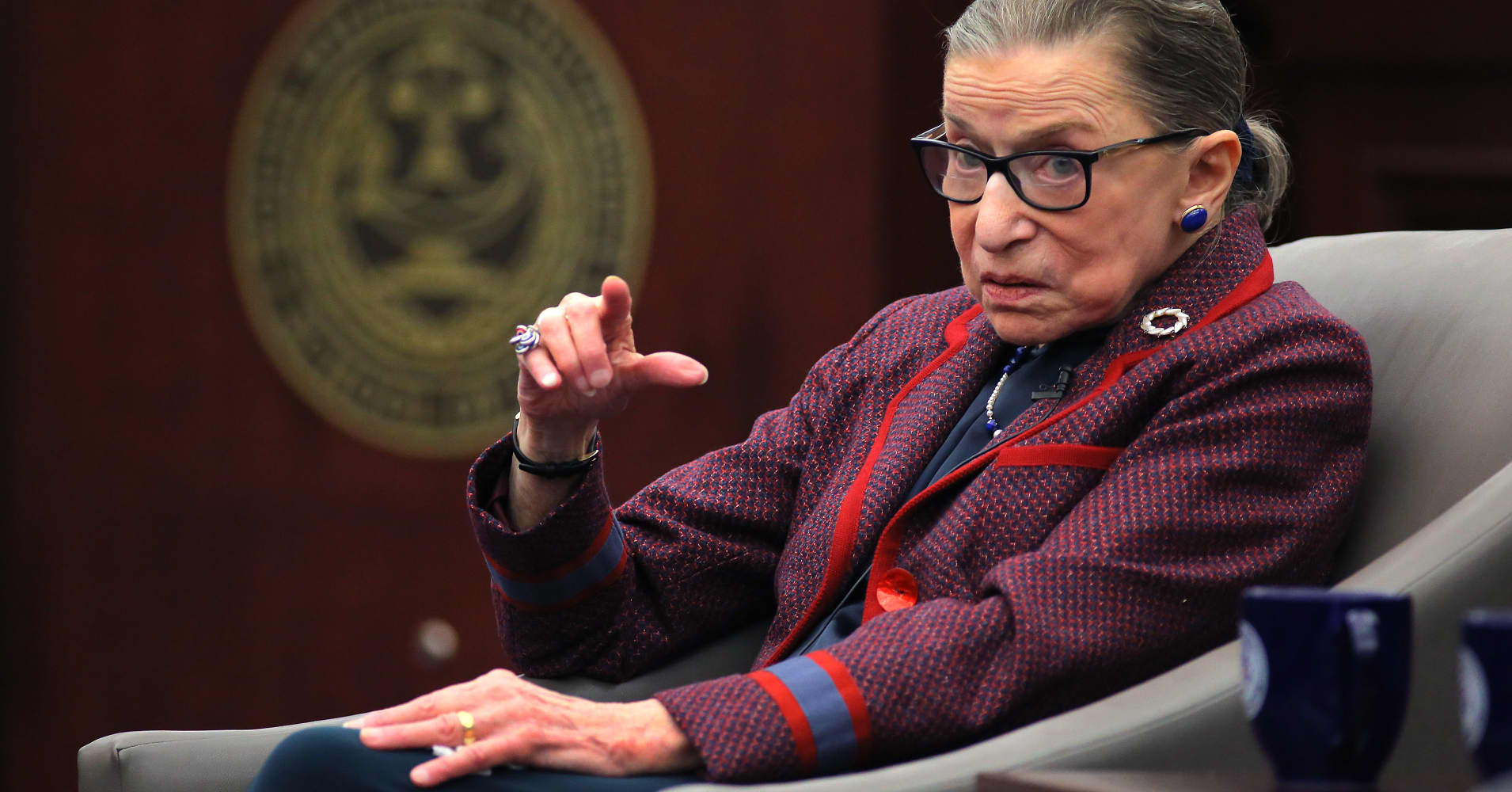 Justice Ginsburg working from hospital after surgery, court says