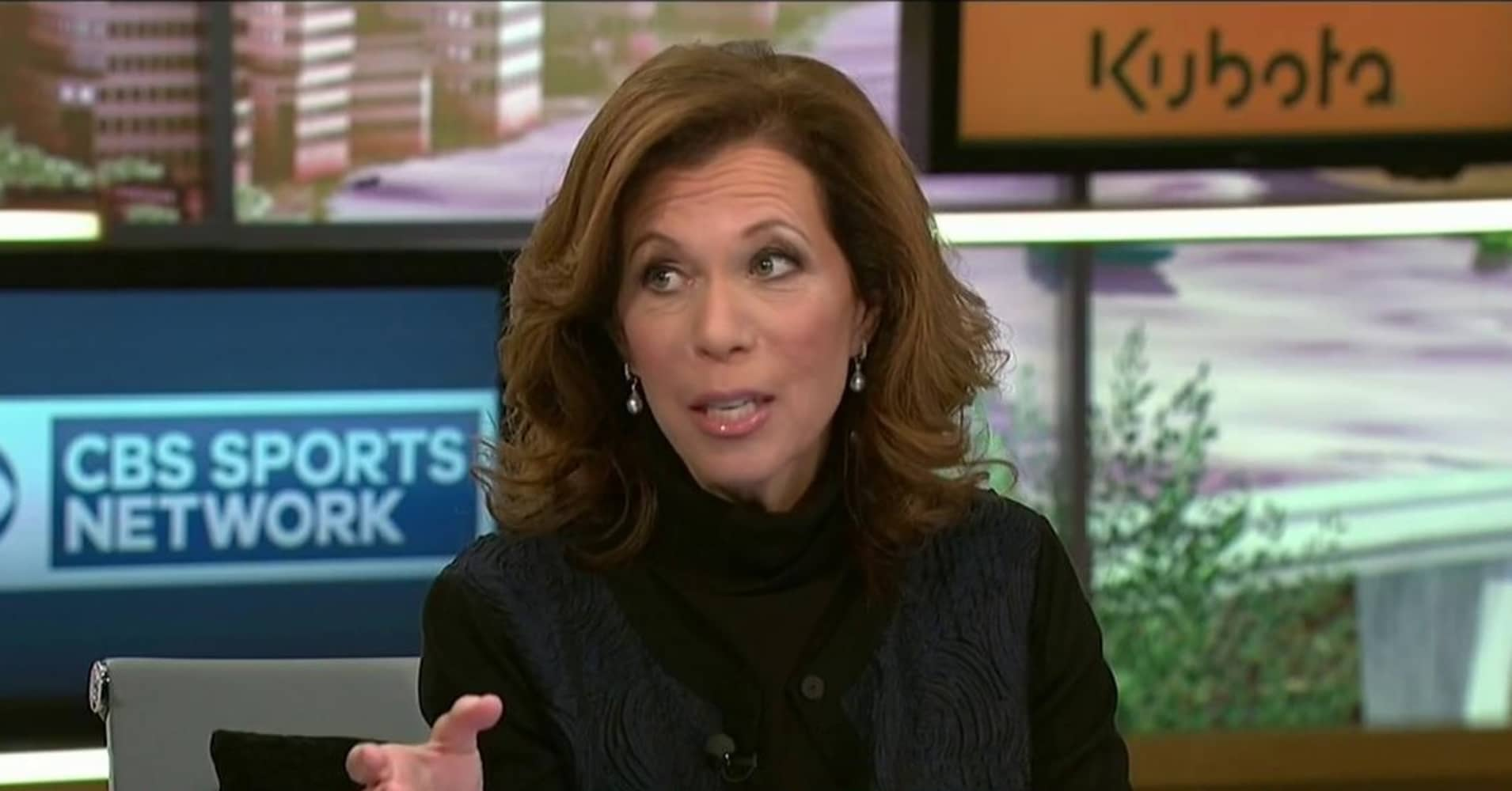 CBS Sports football analyst and former Raiders CEO Amy Trask.
