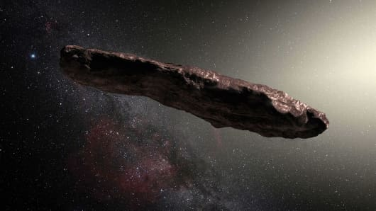 Rendering of Oumuamua