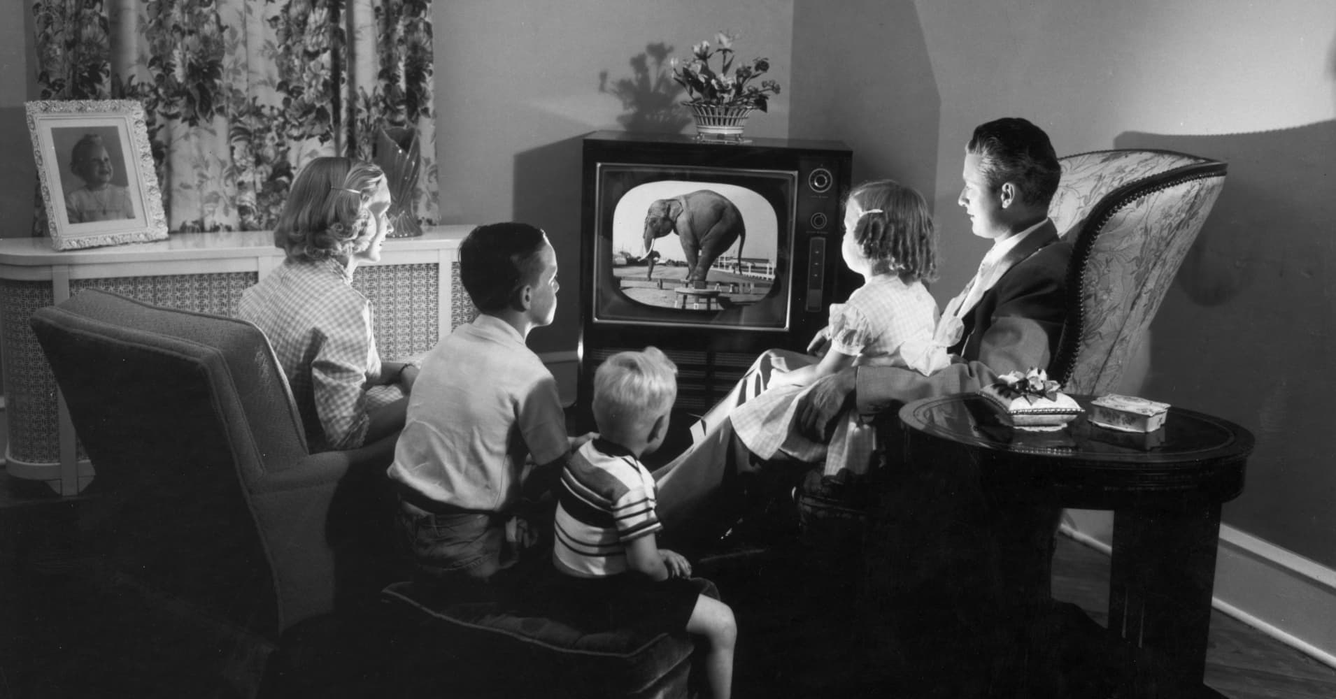 Black and white TV is not completely out of style in the UK