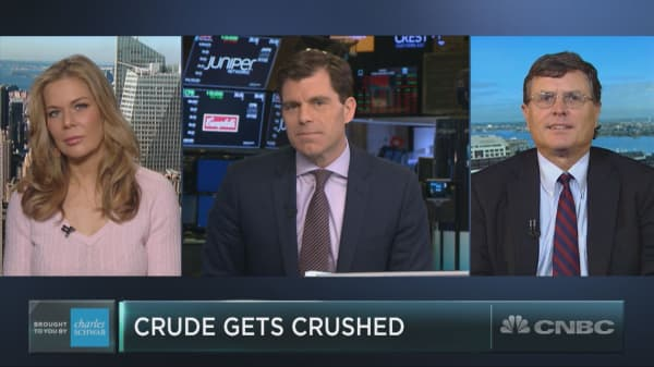Oil is in the midst of an historic sell-off, but one expert sees light at the end of the tunnel