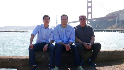 The three founders of Quanttus: David He, Shahid Azim and Richard Bijjani