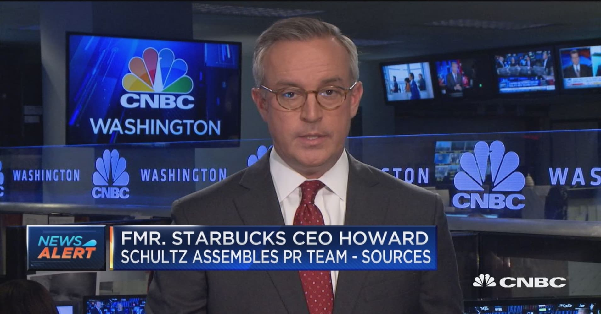 Fmr  Starbucks CEO looking at potential presidential run