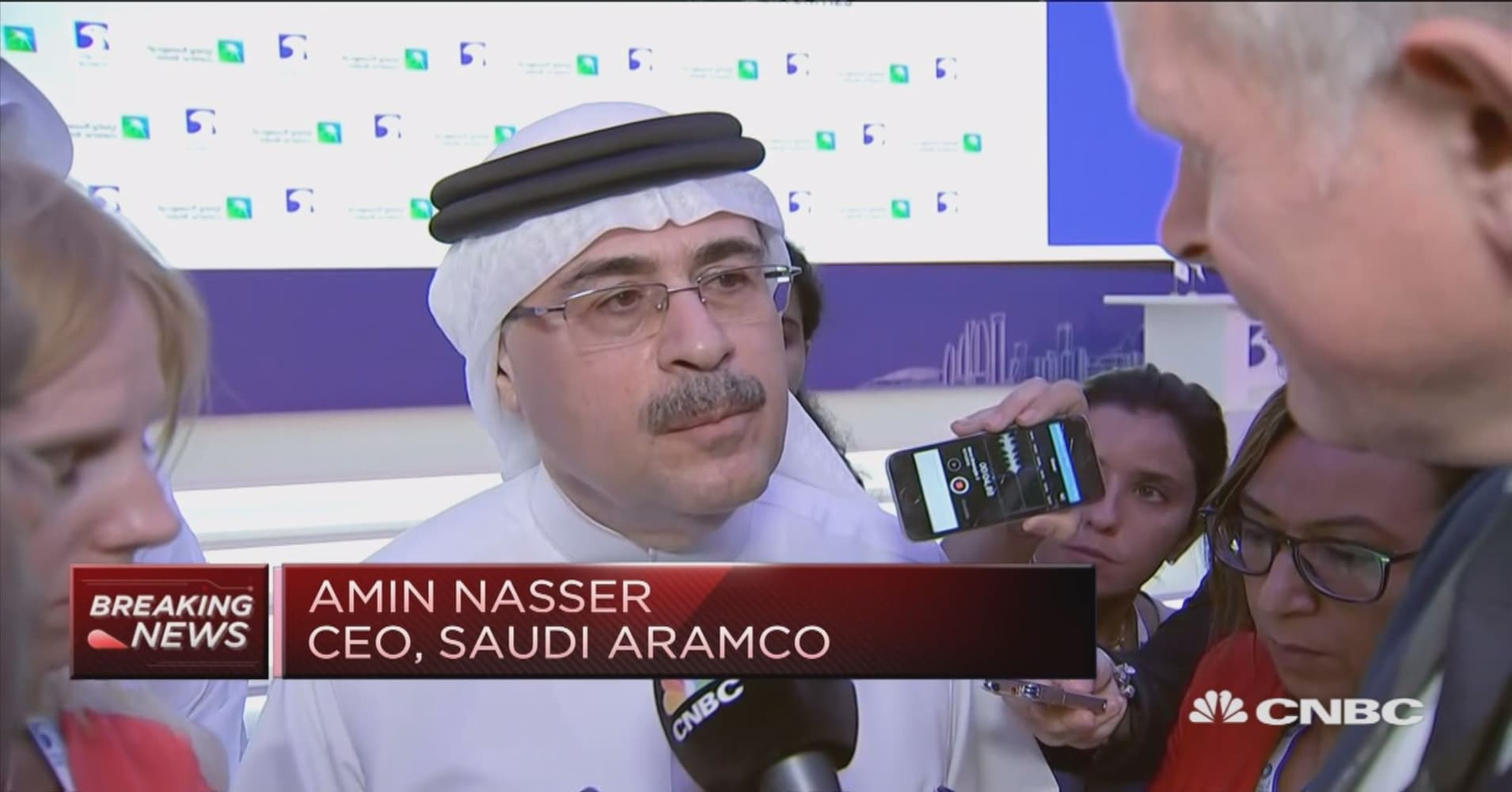 Saudi Aramco CEO: Government will decide on the IPO timing