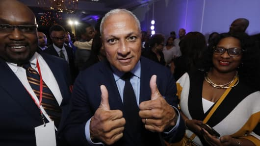 Mike Espy who is seeking to unseat appointed Sen. Cindy Hyde-Smith, R-Miss.