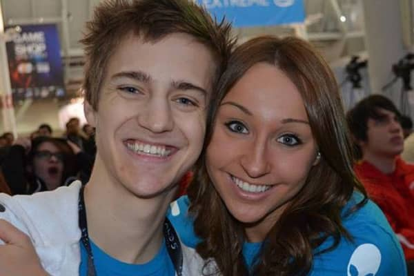 "Tyler ""Ninja"" Blevins and Jess Blevins, at the PAX East gaming conference in 2015."