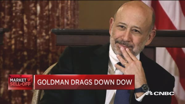 Goldman just had its worst day since 2016, here's what's weighing on the stock