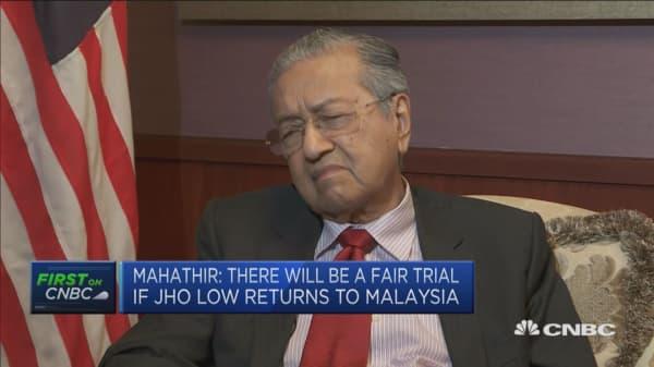 Former prime minster Najb Razak will get a fair trial: Malaysia's Mahathir