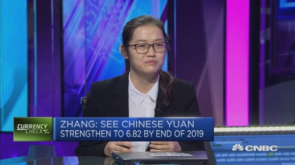 Dollar Yuan 6 82 By End 2019