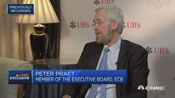 ECB's Praet on ending the asset purchase programme and the bank's next moves