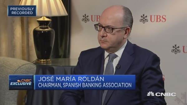 European Banking Federation's Roldan on volatility, a banking union and political uncertainty