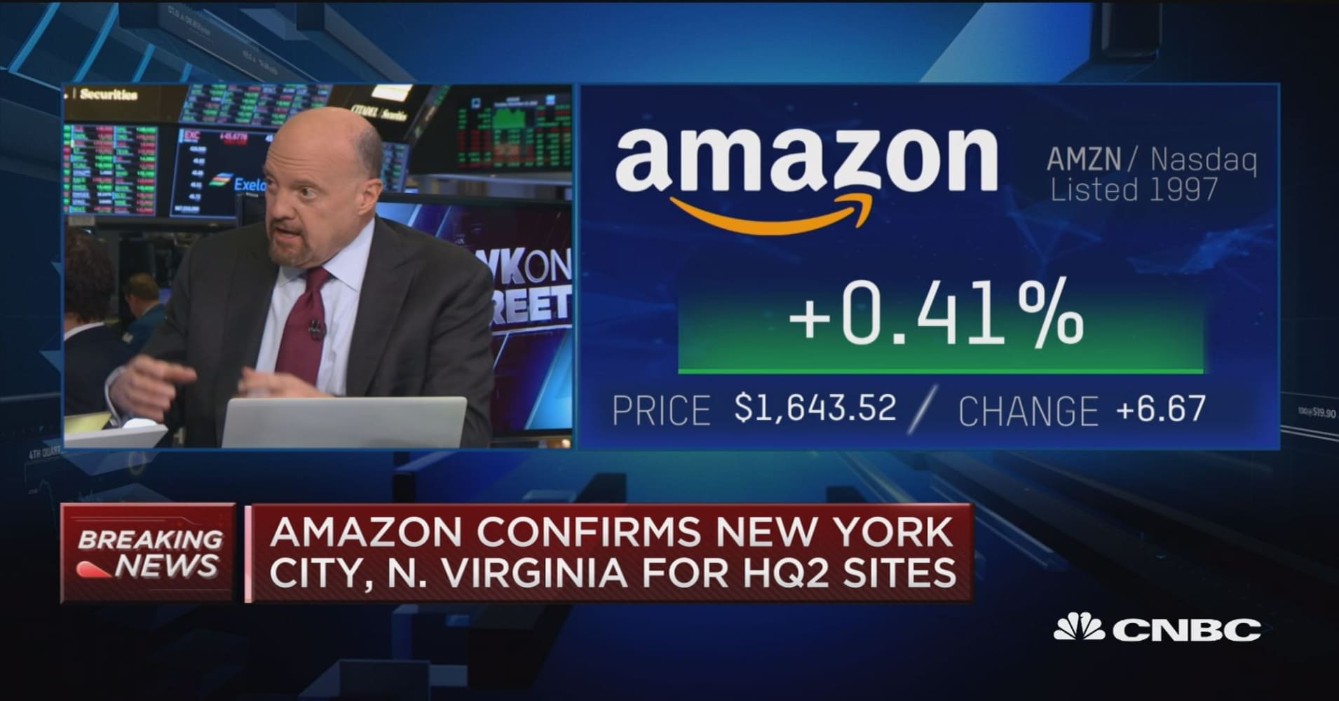 Amazon picks New York City, Northern Virginia for HQ2