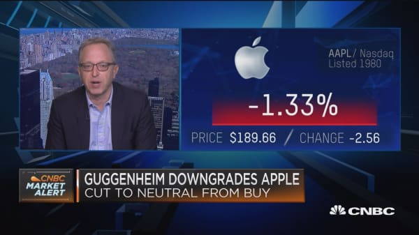 Guggenheim's Rob Cihra on downgrading Apple shares