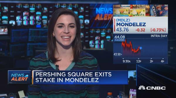 Pershing Square exits stake in Mondelez