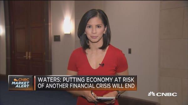 Waters & bank regulation rollbacks