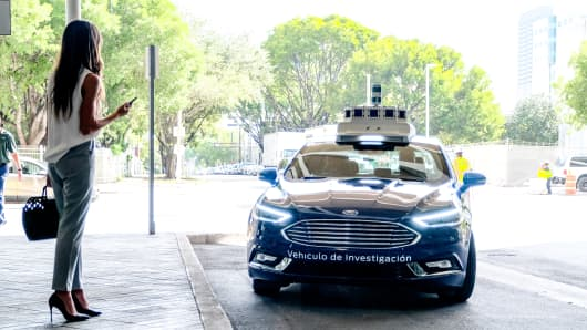 Ford AV Argo autonomous vehicle test car