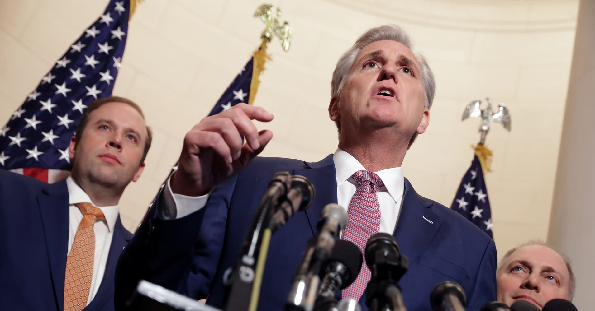 House GOP leader Kevin McCarthy: Pelosi and Democrats caved on Trump's border barrier demand