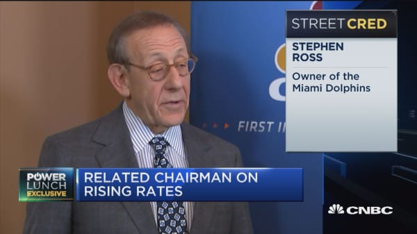 If builders have money, they're gonna build: Stephen Ross